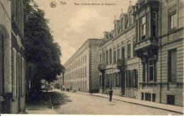 ATH  -   Rue  Isidore  Hotton  Et  Caserne.  -   ANIMATION.  -   CPA  Postée  Provenant  D´un  Carnet. -  MARCOPHILIE. - Ath