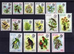 Fiji - 1971/72 - Birds & Flowers (Upright Watermark) - MNH - Fidji (1970-...)