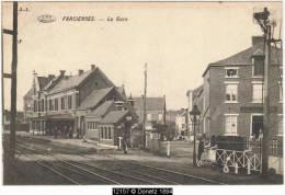 12157g GARE - PASSAGE à NIVEAU - CAFE - Farciennes - 1910 - Farciennes