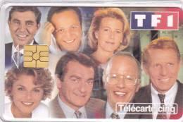 TELECARTE 5 U @ ANIMATEURS TELE - 7500 Ex @ 11/1997 Arthur Foucault Chazal Pernaud Rolland PPDA Bronkaers - Francia