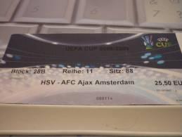 HSV Hamburger-Ajax/Football/UEFA Cup Match Ticket - Match Tickets