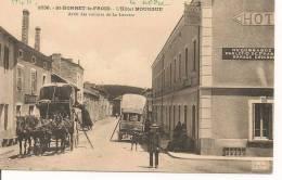 SAINT-BONNET-LE-FROID ( 43 )  - L'Hotel Mourgue  Arret Des Voitures De La Louvesc - France
