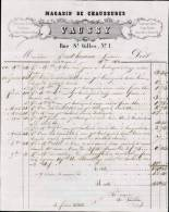 VAUSSY MAGASIN DE CHAUSSURES A SAINT BRIEUC / FACTURE DATEE 1863 - 1800 – 1899