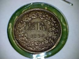 1964 B  1/2 Franc - Suiza