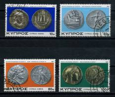 CYPRUS   1977    Ancient  Coins   Set  Of  4    USED - Zonder Classificatie