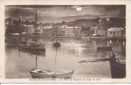 BELLE ILE EN MER - Le Port De Sauzon Au Clair De Lune - Belle Ile En Mer