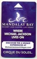 Mandalay Bay Hotel & Casino,  Las Vegas, Tarjeta Magnética Llave De Hotel, NUEVA  Mb-48 - France
