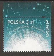 """POLONIA / POLAND /POLSKA / POLOGNE - EUROPA 2009 - TEMA """"ASTRONOMIA"""" - SERIE De 1  V.  DENTADA  (PERFORATED) - Europa-CEPT"""