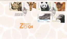 Australia 2012 Australian Zoos  Self Adhesive  FDC - Premiers Jours (FDC)