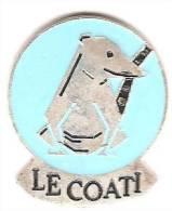 Animeaux_ LE COATI  _Signé LECULLY - Animals