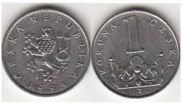 REPUBBLICA CEKA - 1 KORUNA - 1994 - Circolata - Repubblica Ceca
