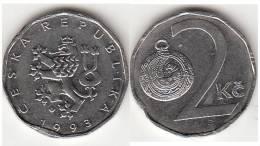 REPUBBLICA CEKA - 2 KORUNA - 1993 - Circolata - Repubblica Ceca
