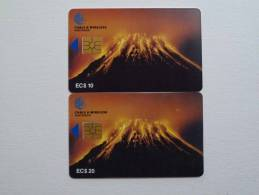 MONTSERRAT - First Chip - Mint / Used - $10 & $20 - Volcano - Cable & Wireless - Montserrat