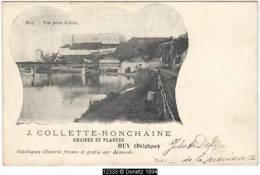 12333g HORTICULTURE - J. Collette-Ronchaine - Graines Et Plantes - Vue Prise De'Ahin - Huy - Hoei
