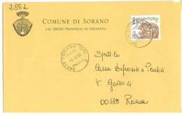 SORANO 58010  PROV. GROSSETO  - ANNO 2002  - LS   - STORIA POSTALE DEI COMUNI D´ITALIA - POSTAL HISTORY - Affrancature Meccaniche Rosse (EMA)