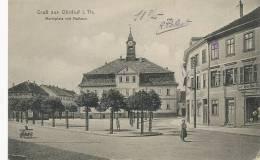 Gruss Aus Ohrdruf Marktplatz Mit Rathaus Sent By French Prisoner WWI To Verneuil L' Etang - Allemagne