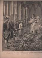 LE JOURNAL ILLUSTRE 09 11 1890 - MARIAGE DE MOHRENHEIM / DE SEZE - MANOEUVRES VILLENEUVE SAINT GEORGES - ACTEUR DUMAINE - 1850 - 1899