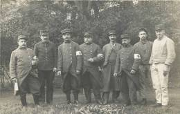 CARTE PHOTO GROUPE D'INFIRMIERS MILITAIRE - Guerra 1914-18