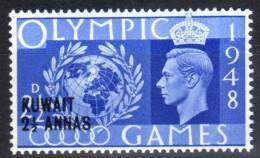 Kuwait - George V - 2 1/2 Annas Overprint On 2 1/2d Olympic Games 1948 - Mint Unmounted - Kuwait