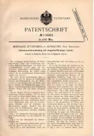 Original Patentschrift - B. Stürenberg In Alfhausen , Prov. Hannover , 1899 , Schienen - Verbindung , Eisenbahn !!! - Historische Dokumente