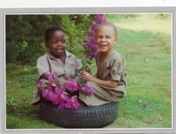 """Afrique-Institut Des Aveugles Du TOGO """"KEKELINEVA""""(b) Togoville Deux Petits Aveugles De Cinq Ans ( Enfants Enfant Pneu) - Togo"""