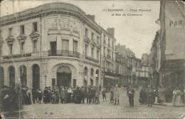 18 . BOURGES . PLACE PLANCHAT ET RUE DU COMMERCE . LA SOCIETE GENERALE ( En L Etat ) - Bourges