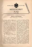 Original Patentschrift - Josef Busek In Lobositz , Böhmen , 1900 , Dampfkessel Mit Spiritusheizung !!! - Historische Dokumente
