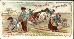 CHROMO CHOCOLAT AIGUEBELLE - FEVRIER - Aiguebelle