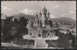 AK Nice, La Cathédrale Russe, Gel 1956 - Non Classés