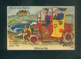 Carte à Système - VILLERS SUR MER (14) - Automobile Tacot Chauffeur Dépliant 10 Vues ARTAUD 18 - Villers Sur Mer