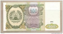 Tagikistan - Banconota Non Circolata Da 200 Rubli - 1994 - Tagikistan