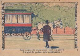 Chaussures INCROYABLE à Moulins-Devinettes-Où Sont Le Cocher Et Le Conducteur ? - Trade Cards