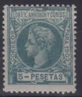 1903 - ELOBEY ANNOBOM Y CORISCO - EDIFIL Nº 17 *** MNH - FIRMA D. ROIG - Elobey, Annobon & Corisco