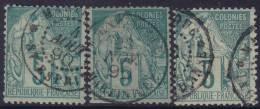 *PROMO* Oblitérations RARES De Martinique (St Esprit / Morne Rouge / Grand D´Anse) Sur 5c Alphée Dubois , Cote 320€