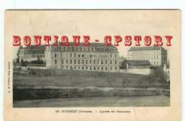 23 - GUERET - De Nussac 15 < Lycée De Garcons - Dos Scané - Guéret