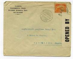 WW1 / Lettre Censurée De SAN  SALVADOR / 19 Janvier 1918 / Pour L'Espagne - Provenance Assez Rare - Marcophilie (Lettres)