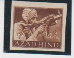 Germany Azadhind India 1a+1a MNH Impeforate Stamp Slight Offset - India (...-1947)