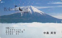 Télécarte Japon / 110-126 - VOLCAN MONT FUJI & Golf - VULKAN & Sports Japan Phonecard - VULKAN & Sport - MD 473 - Vulkane