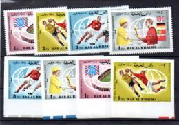 Ras-al-Khaima 1966, FIFA Football, MI 152 / 155** + Nd**, Cote 18,50 € - Coupe Du Monde
