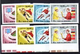 Ras-al-Khaima 1966, Coupe Du Monde De Football, MI 152 / 155** + Nd**, Cote 18,50 € - Coupe Du Monde