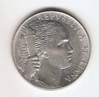 REPUBBLICA ITALIANA LIRE 5 PRIMO TIPO GRAPPOLO D´UVA 1949 - 1946-… : República