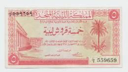 Libya 5 Piastres 1951 VF++ CRISP Banknote P 5 - Libye