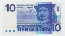Netherlands 10 Gulden 25.04.1968 XF+ CRISP Banknote P 91b  91 B - 10 Gulden