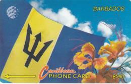Barbados, BAR-15C, B$40, Barbados Flag, 15CBDC, 2 Scans. - Barbades