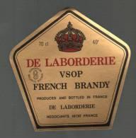 Etiquette  DE LA  BORDERIE  -  VSOP  French  Brandy - Autres