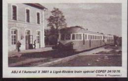 T.493  /  1976  --  TOURAINE INDRE ET LOIRE 37   --  AUTORAIL EN GARE DE LIGRE RIVIERE - Old Paper