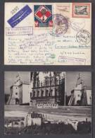 POLAND: KATOWICE 1959, DEHYLOV  1960,Balloon Post KAZIMIREZ To Venezuela - Airmail