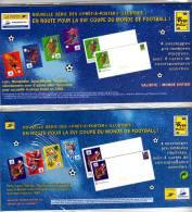 France 98 (Coupe Du Monde De Foot 1998), 2 Blocs  De 4 Enveloppes + Cartes - N° 3010 à 3013 Et 3074 à 3077 - Postal Stamped Stationery