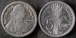 INDOCHINE Très Rare Et étrangement Peu Coté 5 Cent 1946 SUP   PORT OFFERT - Camboya