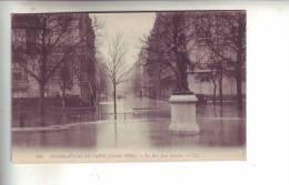 75.- PARIS .- Inondations De PARIS  ( Janvier 1910 ) .-  La Rue Jean Goujon - Paris Flood, 1910